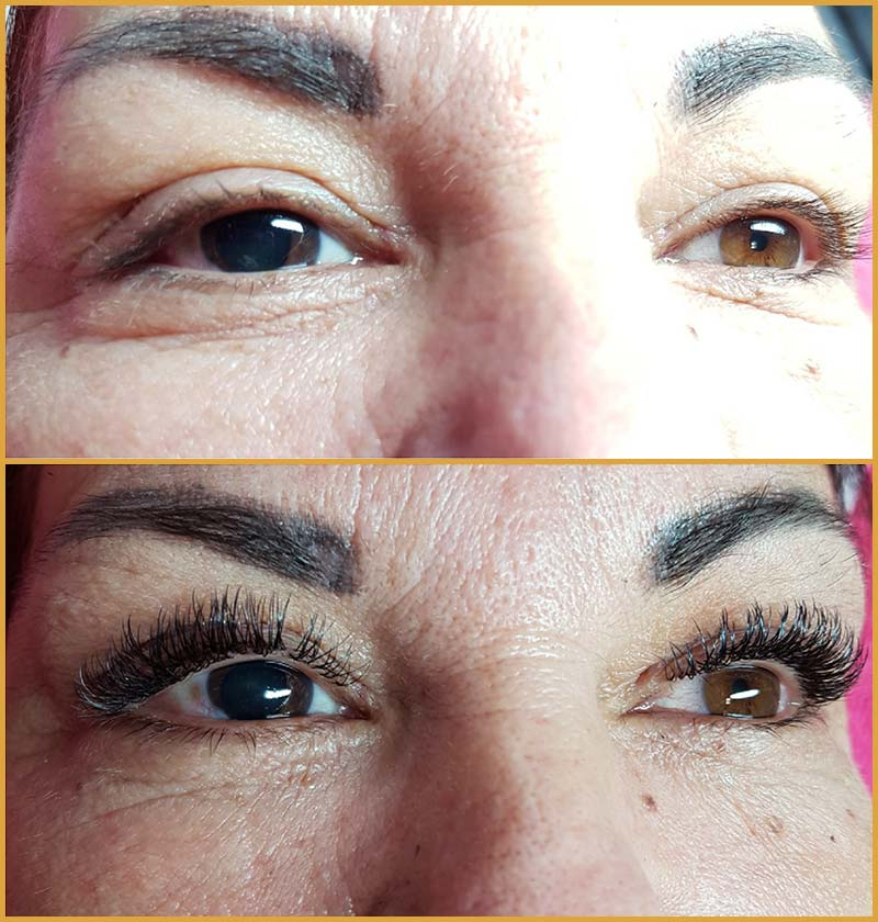 Lash Extensions Volumen Look